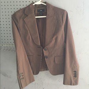 Brown pinstripe HM blazer size 4